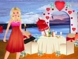 Habillée pour la Saint Valentin