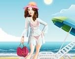 Hannah à la plage