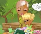 Lecture entre maman et fille