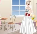 Habillage d'une mariée