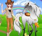 Une fille et son cheval