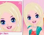 Maquillage d'une fille