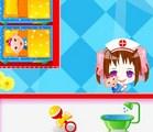 Une infirmière pour des bébés