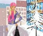Jolie fille en hiver