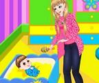Habillage d'une baby sitter