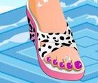 Jolis pieds manucurés