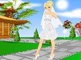 Jeux de mariée en robe courte
