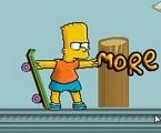 Bart sur un skate