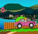 Homer court après les donuts