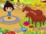 Ferme avec chevaux