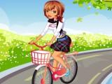 A l'école en vélo