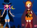 Jumelles à Halloween