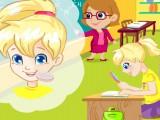 Polly se maquille en classe