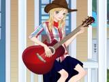 Chanteuse et guitare