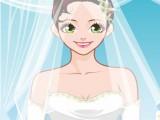 Mariée maquillée mignone