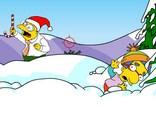 Féérie de Noel chez Les Simpsons