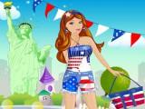 Jeune américaine aux élections