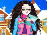 A l'école en hiver