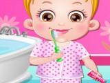 Hazel se brosse les dents