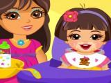 Jeune babysitter Dora