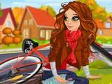 Emily tombe de vélo