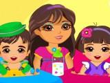 Dora garde les bébés jumeaux