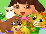 Dora et les animaux