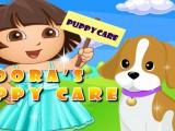 Dora s'occupe d'un chien
