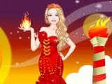Habillage d'une princesse du feu