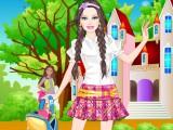 Habillage d'une princesse à l'école