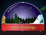 Animation boule de neige Noel