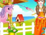 Balade d'une princesse en poney