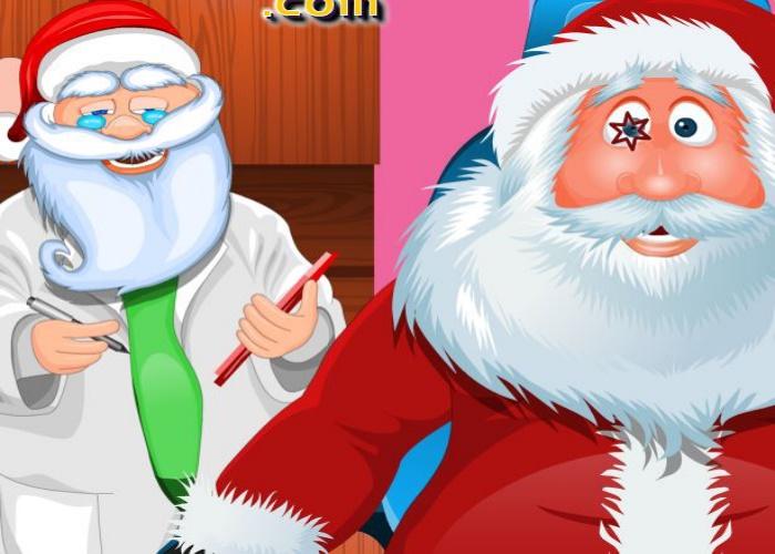 Père Noel chez l'ophtalmo