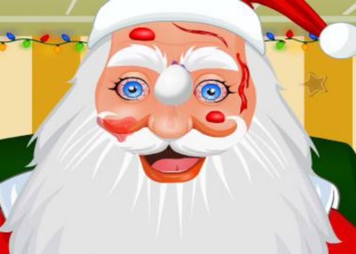 Père Noël à l'hopital