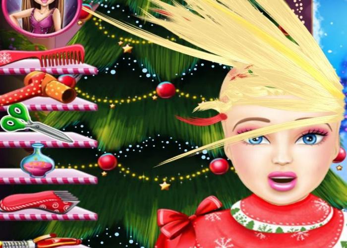 Coiffure de folie Miss Noël