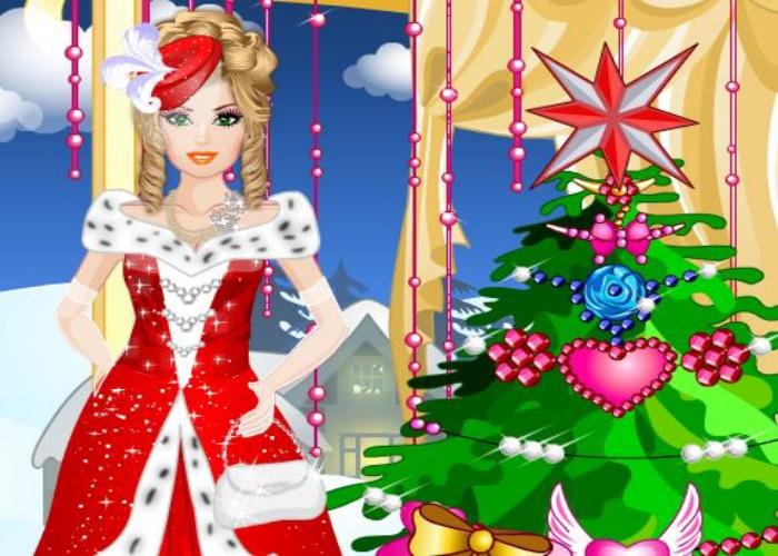 Habillage d'une princesse pour Noël