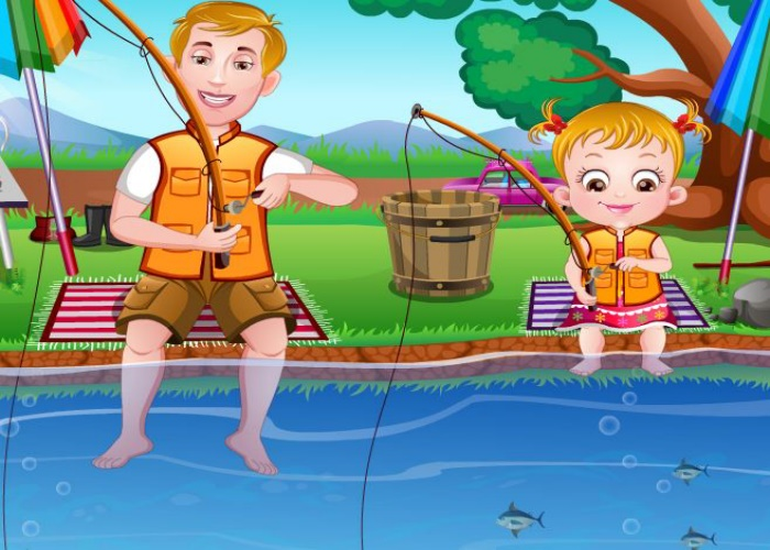 Hazel apprend à pêcher