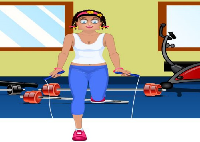 Zoé à la gym