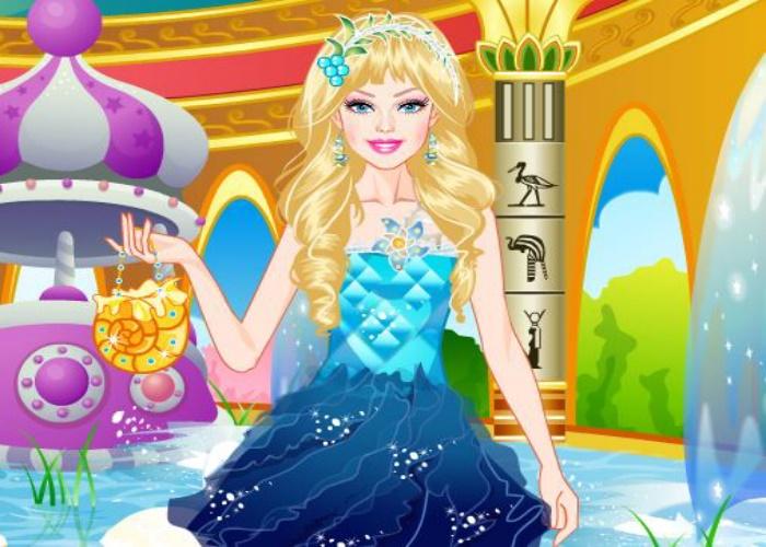 Habillage d'une princesse d'eau