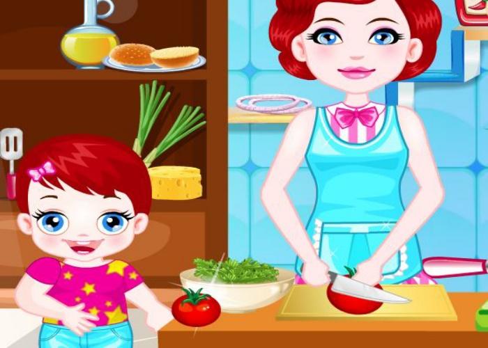 Lulu cuisine avec maman