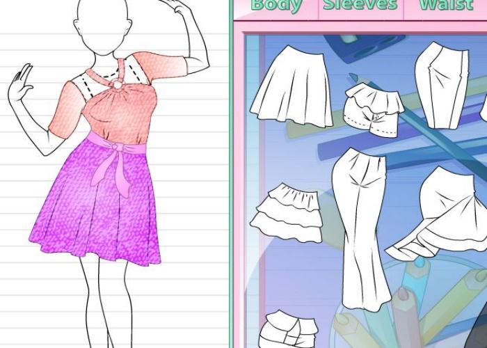 Création d'une robe de fête