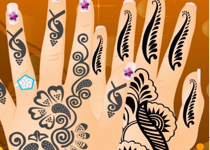 Manucure de mariage oriental