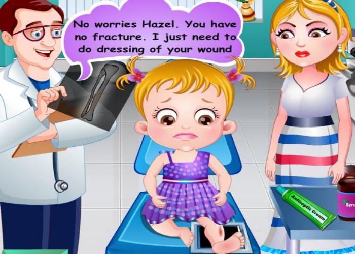 Hazel se blesse la jambe