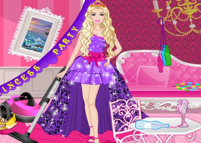 nettoyage apr s une f te de princesses sur jeux fille gratuit. Black Bedroom Furniture Sets. Home Design Ideas