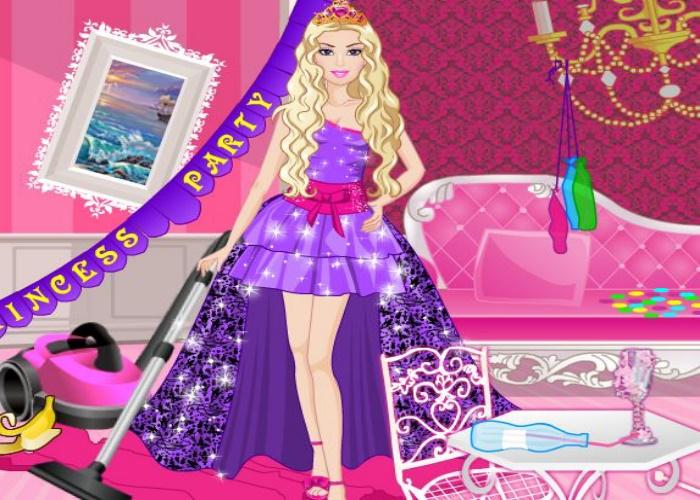 Nettoyage après une fête de princesses