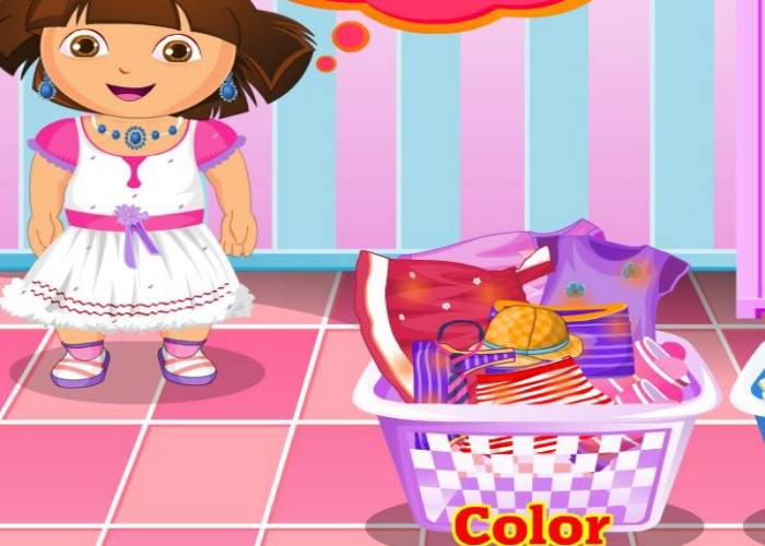 Dora fait la lessive
