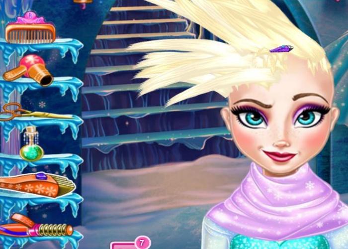coiffure de folie reine des neiges sur jeux fille gratuit - Jeux Gratuit La Reine Des Neiges