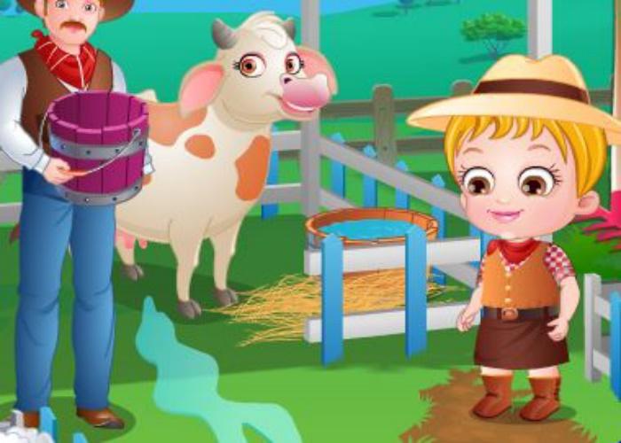 Hazel fait un tour à la ferme