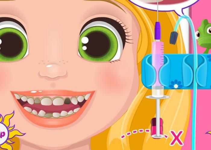 B b raiponce et ses dents sur jeux fille gratuit - Bebe raiponce ...