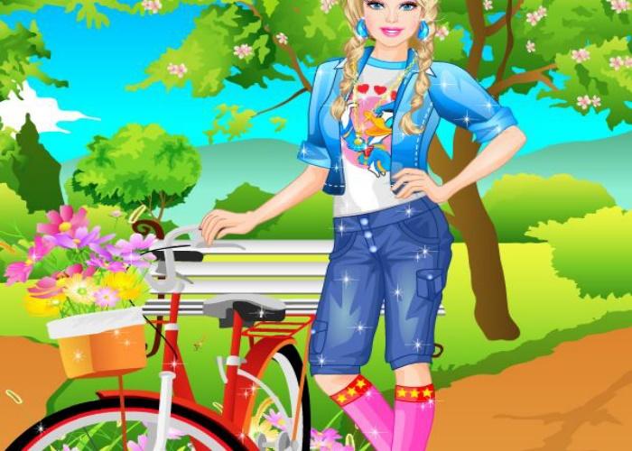 Balade en vélo dans le parc